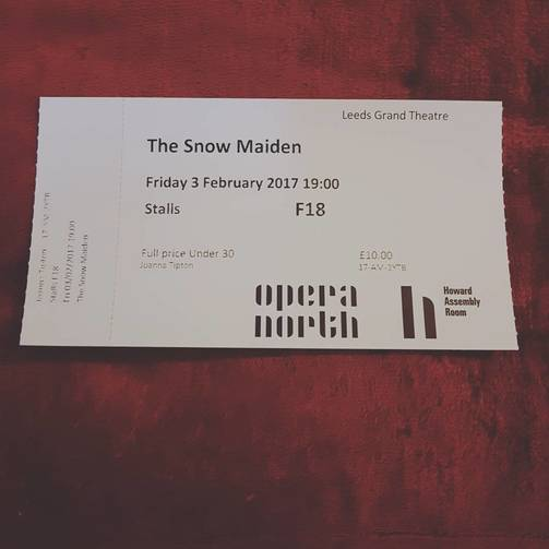 Treating myself to tickets: Opera North's Under 30 scheme - Lost in the North